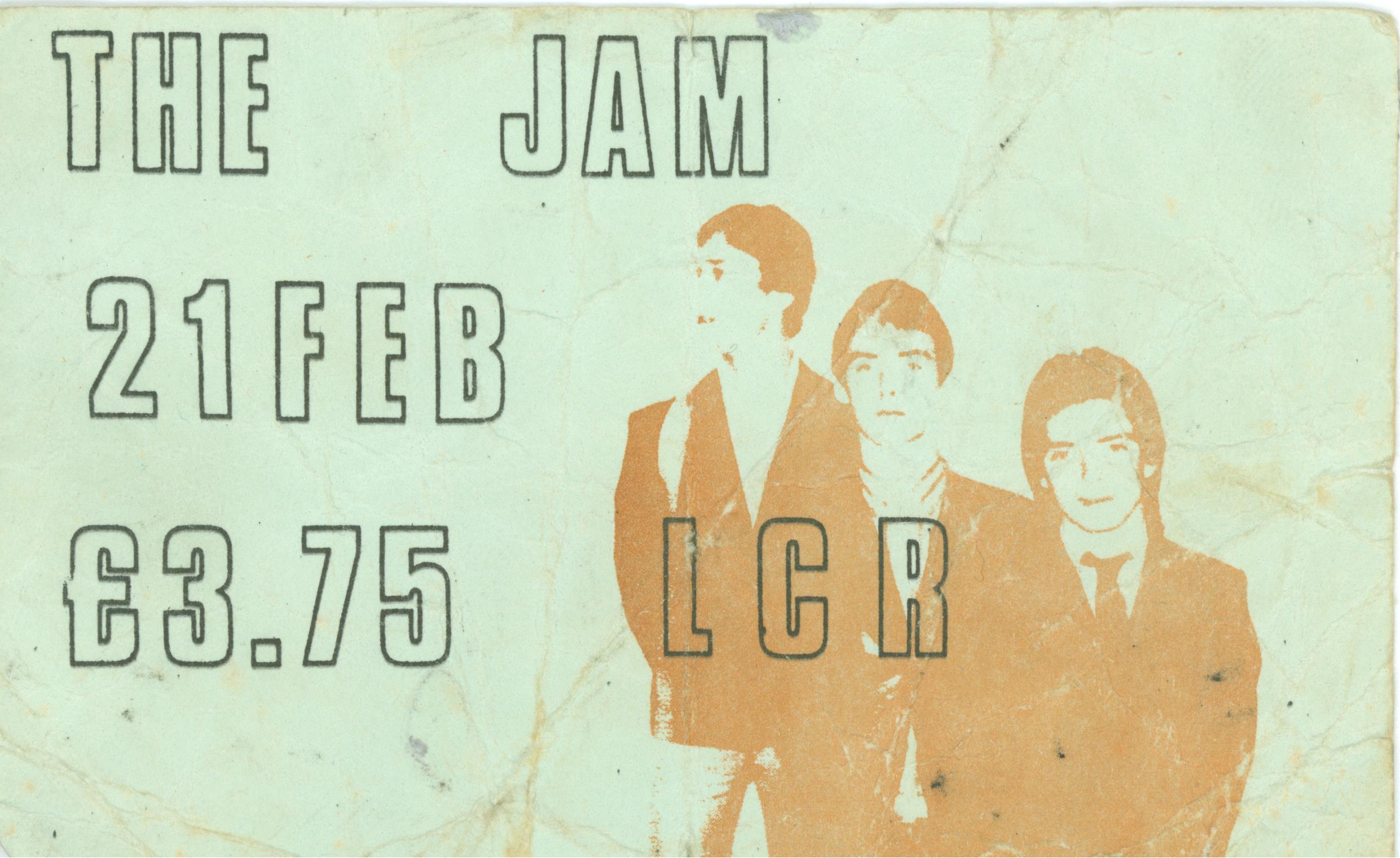 The jam gig ticket UEA 1981