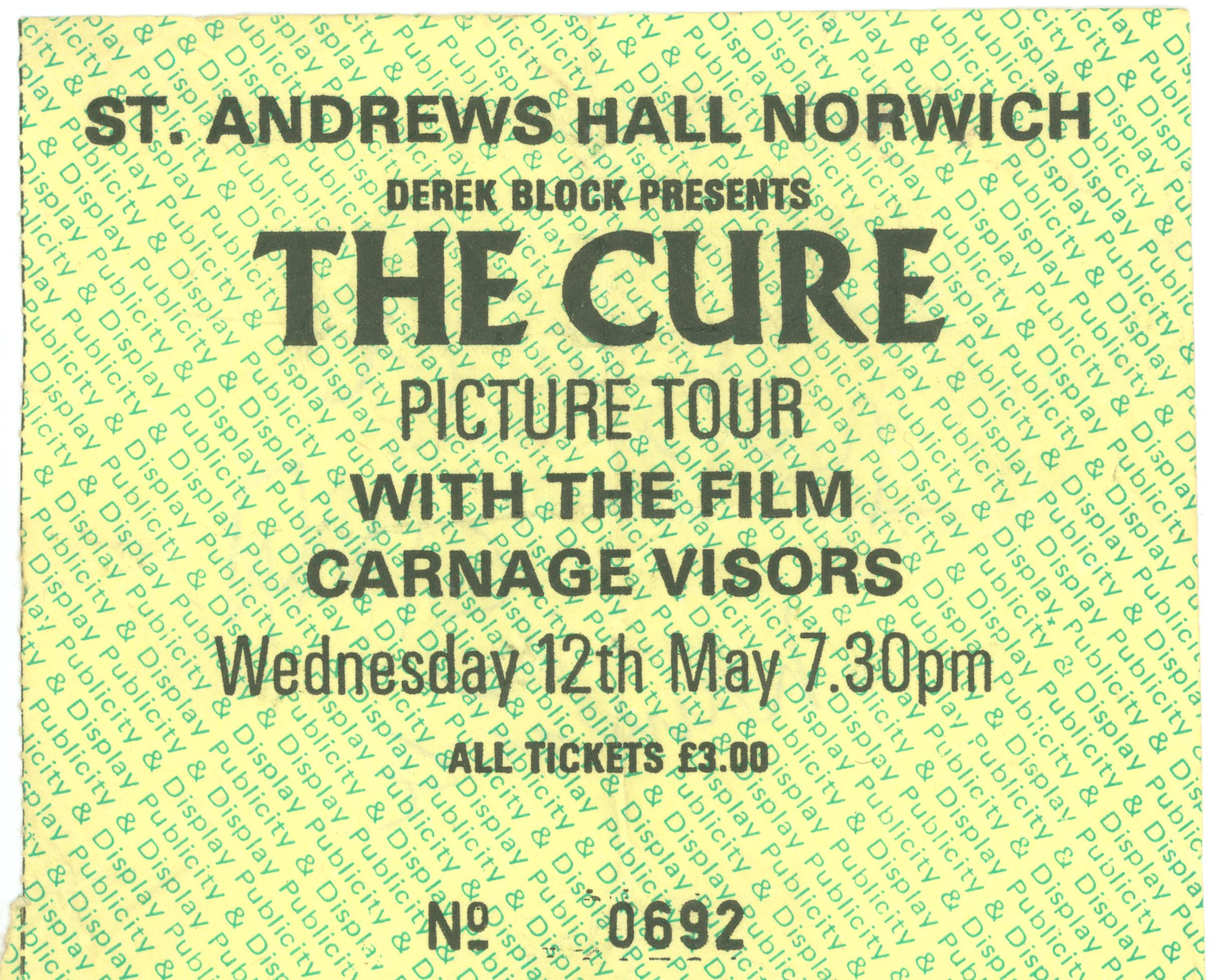 The Cure St Andrews Hall, 1981