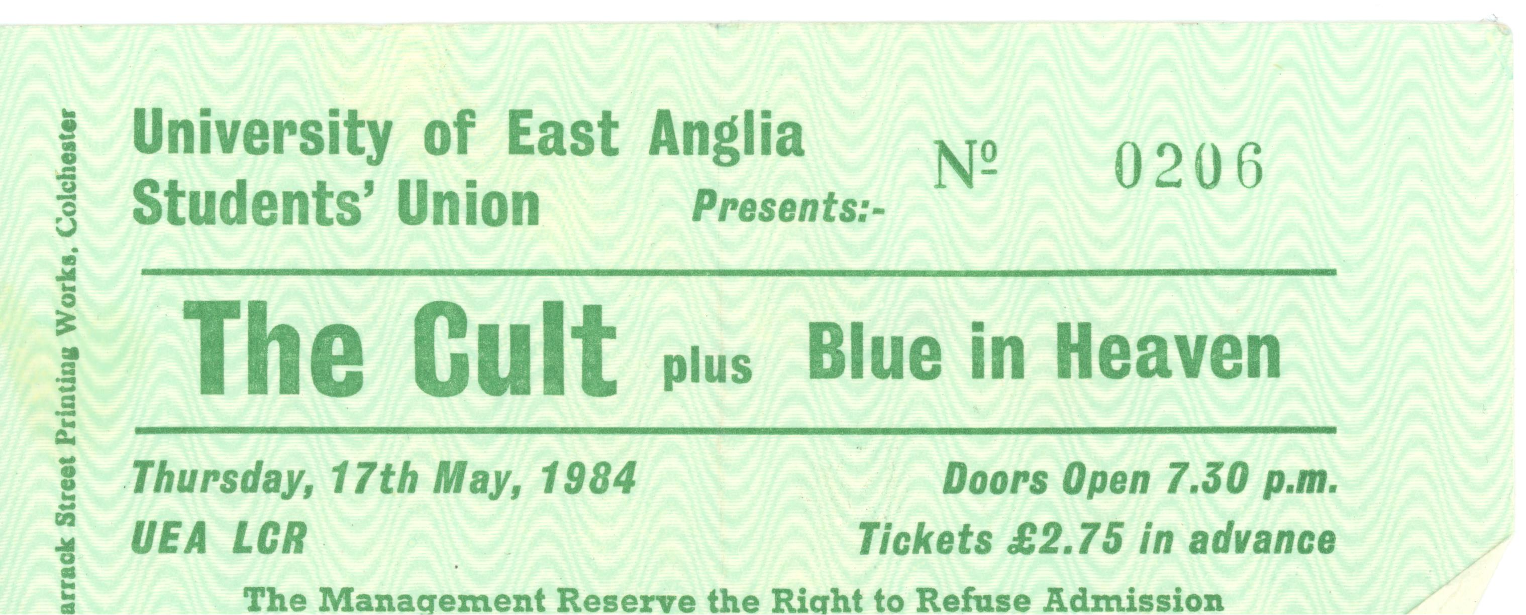 Blue in heaven and the cult 1984