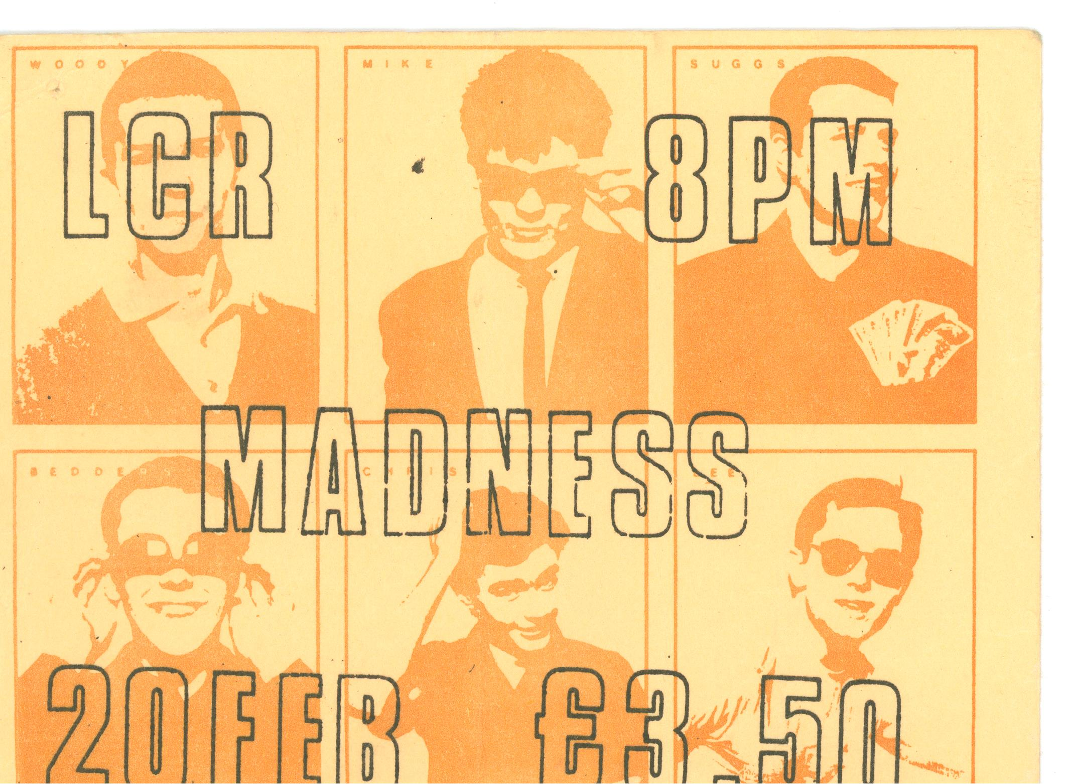 Madness UEA 1981
