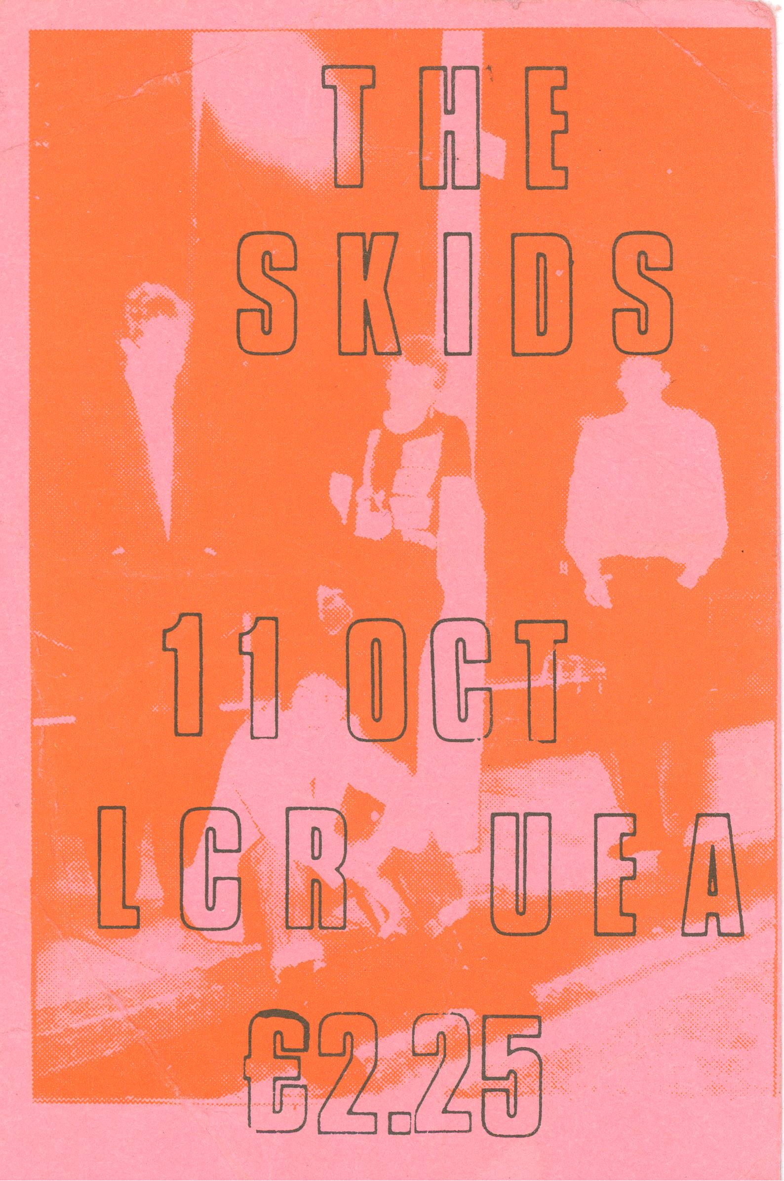 The Skids Norwich 1980