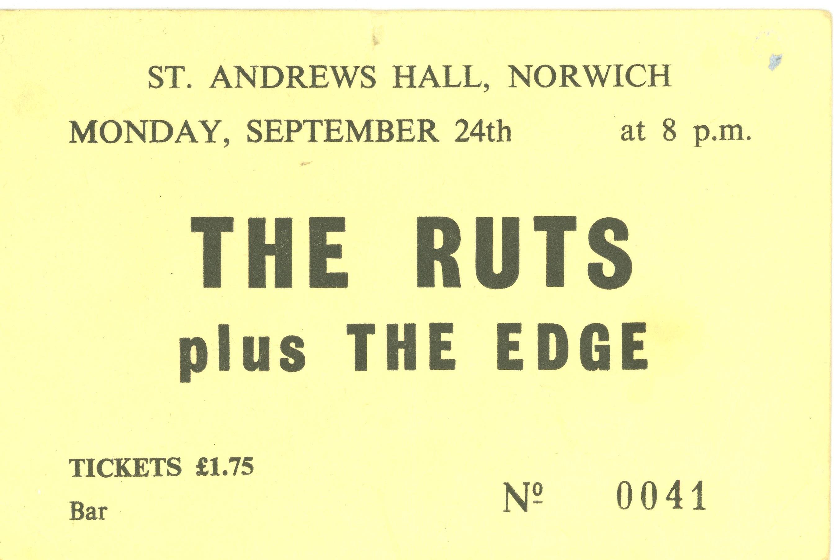 The Ruts plus The Edge