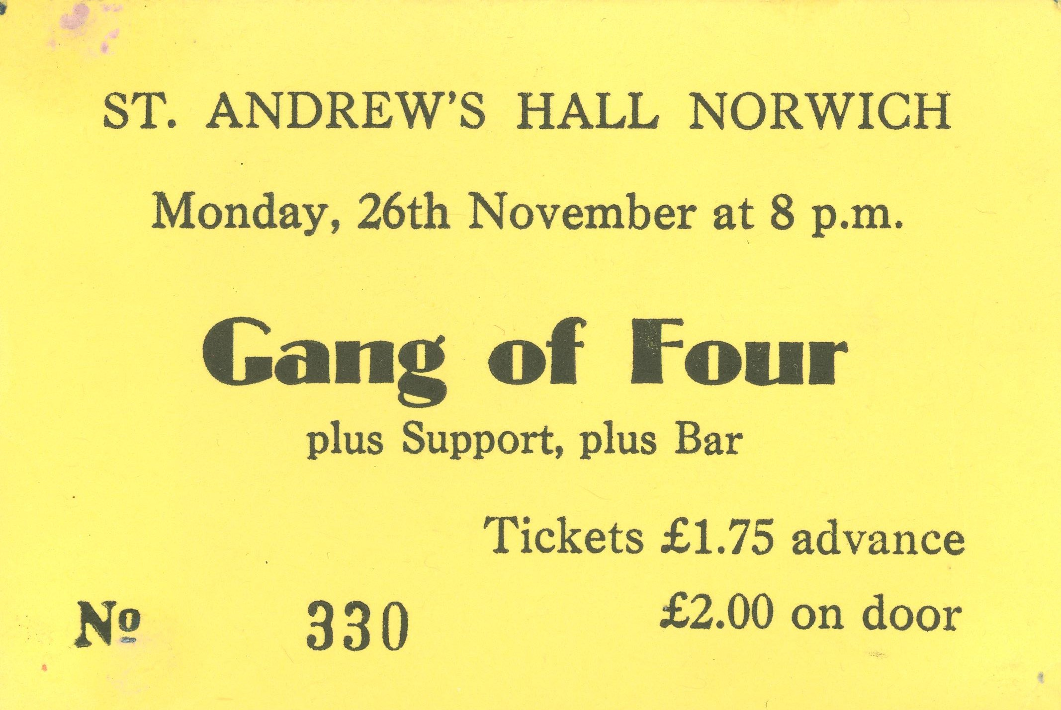 Gang of Four Norwich 1979