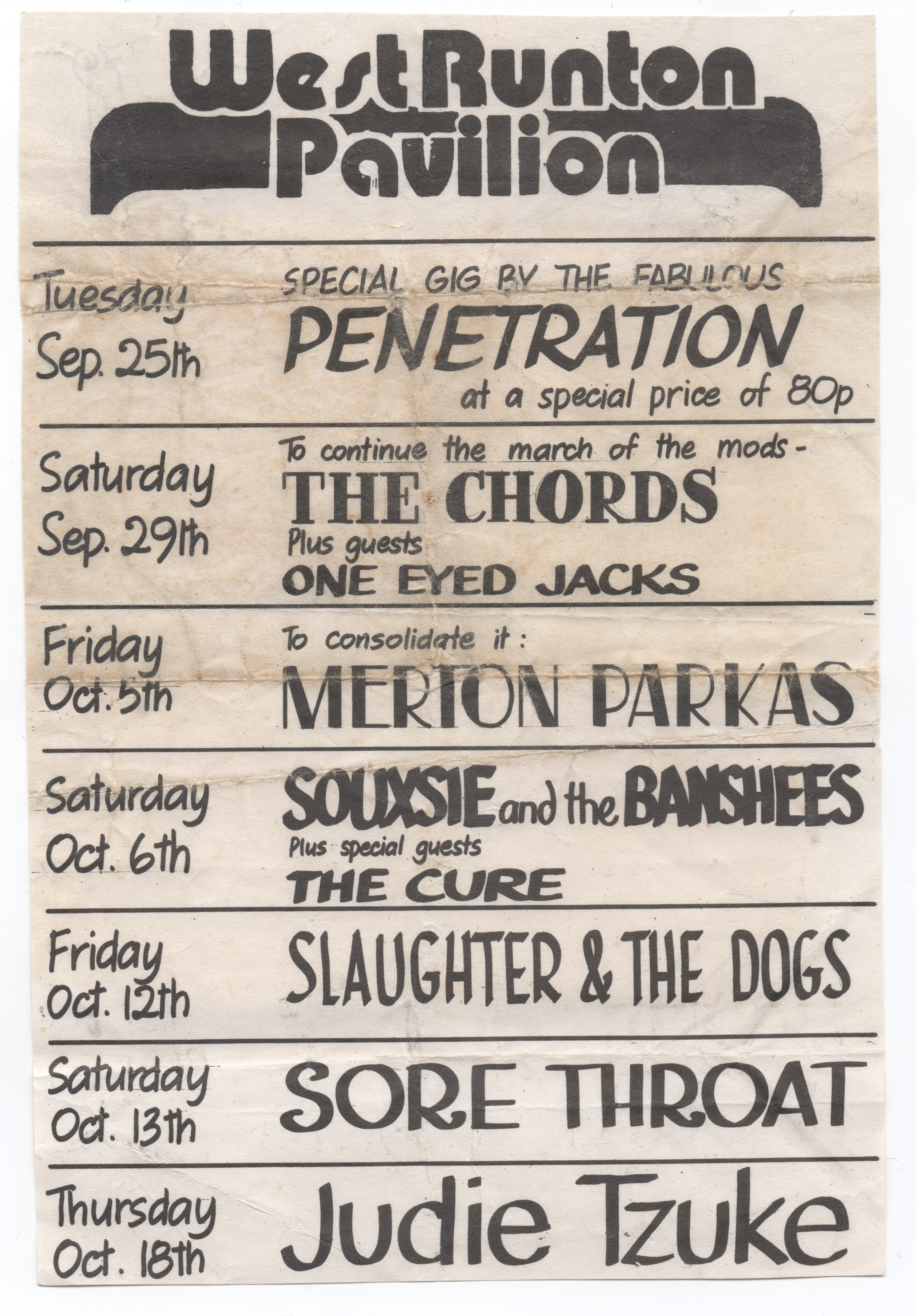 West Pavilion Poster, 1979