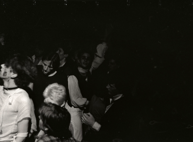 Crowd at The Unwanted, Stuarts Hall (now Cinema City), 26th August 1977