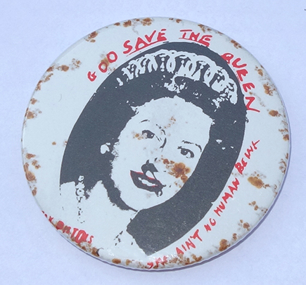 God Save The Queen Pin Badge
