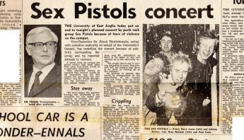 'UEA shoots down Sex Pistols concert' article, Norwich Evening News, December 1976