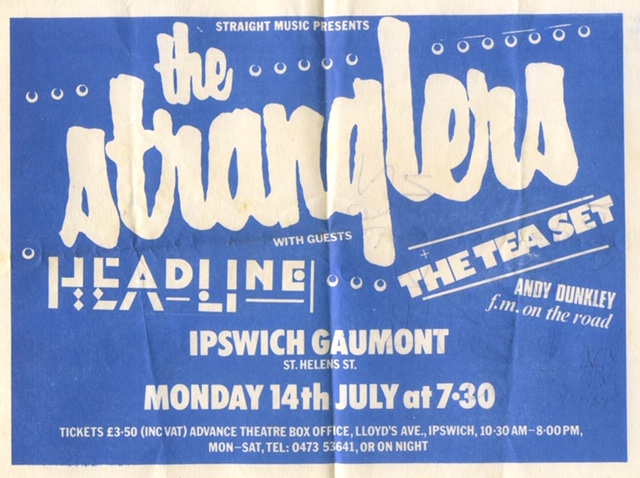 The Stranglers Gig Poster, Gaumont Theatre, Ipswich